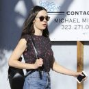 Crystal Reed in Jeans Out in Los Angeles 03/07/2017 - 454 x 642