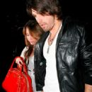 Miley Cyrus With Boyfriend Justin Gaston At Mr Chow In L.A., 2009-03-12