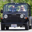 Sophie Turner and Joe Jonas – Drive in Los Angeles