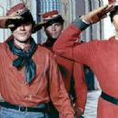 Giuliano Gemma, Alain Delon and Terence Hill