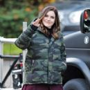 Sophia Bush – On set of her new TV show 'Surveillance' in Vancouver - 454 x 681