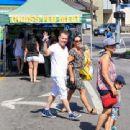 Eddie Van Halen and wife Janie Liszewski are seen in Los Angeles, California - 454 x 340