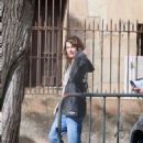 Milla Jovovich – Arriving on set of their new film in Barcelona - 454 x 731