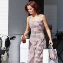 Zoey Deutch – Picking up food from Joan's on Third in Studio City