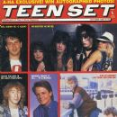 Vince Neil, Tommy Lee, Nikki Sixx, Mick Mars, John Taylor, Michael J. Fox, Julian Lennon, Kirk Cameron - Teen Set Magazine Cover [United States] (October 1986)