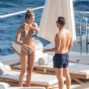 Shayna Taylor and Ryan Seacrest – In bikini on a yacht in Positano