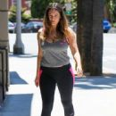 Kelly Brook In Tights Going To The Gym In La