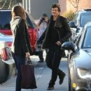 Orlando Bloom picks up his Wife Miranda at a Los Angeles Spa January 4,2013