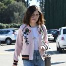 Lucy Hale in jeans shopping at Urban Outfitters in Los Angeles January 28, 2017 - 454 x 549