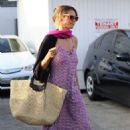Heidi Klum in Long Dress at Meche salon in Beverly Hills - 454 x 681