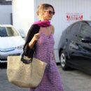 Heidi Klum in Long Dress at Meche salon in Beverly Hills