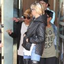 Rihanna and her mother Monica leaving their hotel in London