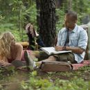 Candice Accola and Kendrick Sampson