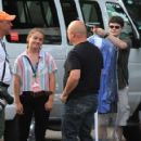 Michael Chiklis arrives at the Hatch Shell along the Charles River in Boston this evening for a dress rehearsal in preparation for tomorrow nights Fourth of July celebration - 422 x 594