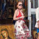 Lindsay Lohan– Out in Mykonos, Greece, 7/5/2016 - 454 x 688