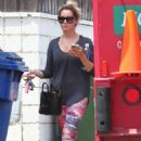 Ashley Tisdale Leaving A Gym In La