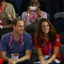 Prince William and Kate MIddleton watching the track cycling on day 1 of the London 2012 Paralympic Games at the Velodrome (August 30)