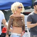 Britney Spears Films Music Video For Pretty Girls In Studio City