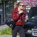 Rosie Huntington Whiteley in Spandex – Leaving gym in Los Angeles - 454 x 681