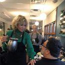 Jane Fonda waitressing
