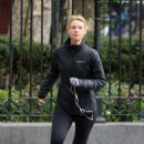 Claire Danes in Tights out in New York