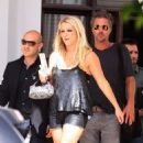Britney Spears: exited her Miami Beach hotel