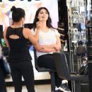 Brittny Gastineau gets her make up done in Beverly Hills, California on August 4, 2016 - 454 x 565