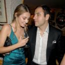 David Walliams and Keeley Hazell