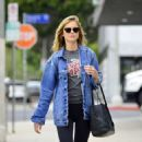Emily VanCamp in Tights out in Los Angeles - 454 x 500
