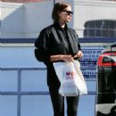 Irina Shayk in Tights at a CVS store in Pacific Palisades
