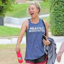 Kaley Cuoco Leaving Workout in Studio City - 454 x 821