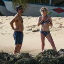 Jodie Whittaker in Bikini on the beach in Barbados