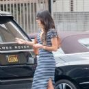 Jordana Brewster in Tight Dress out in Los Angeles  - August 30, 2016
