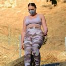 Iskra Lawrence – In camo leggings out for hike in Los Angeles - 454 x 597