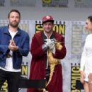 Ben Affleck, Ezra Miller and Gal Gadot- July 22, 2017- Comic-Con International 2017 - 454 x 303