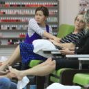 Sharon Stone at nail salon in Los Angeles - 454 x 303