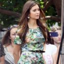 Nina Dobrev stopped by The Grove in Los Angeles today, May 9, to appear on Extra