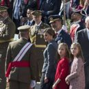 Spanish Royals attend the 2017 National Day military parade