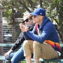 Reese Witherspoon at her son's game in Brentwood