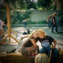 Me with Emile on the Lords Of Dogtown set, Alta Dena