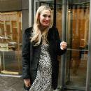 Molly Sims Leaves Siriusxm Studios In New York