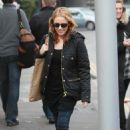 Kylie Minogue leaving home in London, January 22, 2011