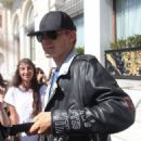 Jared Leto spotted leaving a hotel where he was staying in Athens, Greece on October 1, 2015