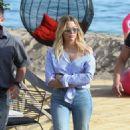 Ashley Benson Leaving the Martinez Beach in Cannes