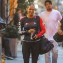 Halle Berry in Tights – Leaving the gym in NYC