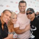 Natalya, Tyson Kidd and David Hart Smith