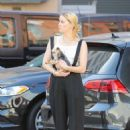 Amber Heard – Shopping with her little dog in LA