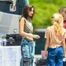 Bella Hadid – On set of a photoshoot in New York