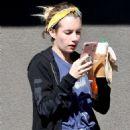 Emma Roberts stops by Starbucks in Los Feliz
