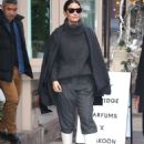Lily Aldridge in White Boots – Leaves her perfume pop up in New York City